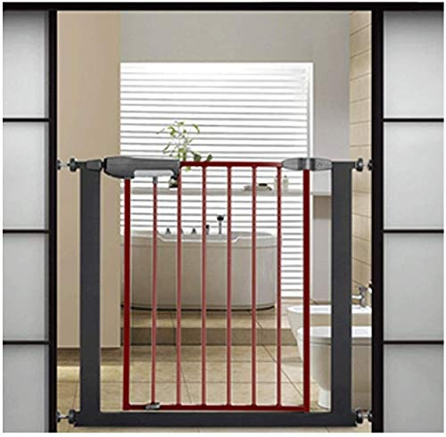 Lanrui Guardrail Garden Door Stairs Fence Pressure Fit Safety Metal Gate Stands 76cm tall The width can be selected from 75 to 196 Pet Gate baby gate with Extensions Available