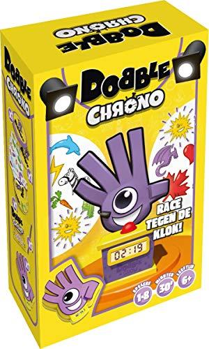 Dobble Chrono NL - Uitgebreide versie van kaartspel Dobble - Test je snelheid, observatie en reflexen - Vijf spelvariaties mogelijk - Voor de hele familie - Taal: Nederlands