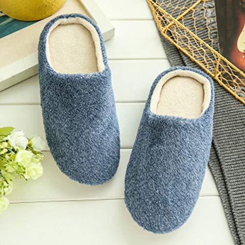 Ba30DEllylelly Semelle antidérapante Confortable en Coton Doux et Chaud pour la Maison Pantoufles d'intérieur Chaussures pour Femmes Pantoufles d'hiver