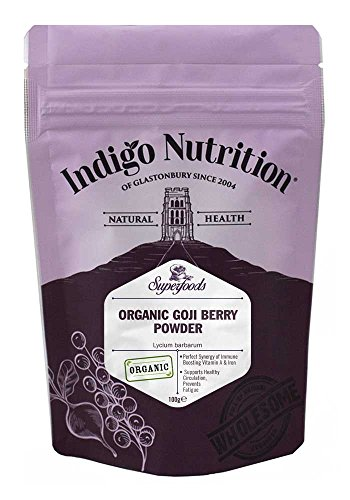 Indigo Herbs Polvo ecológico de la baya de Goji 100g (Liofilizado)