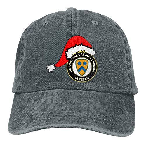 Voxpkrs US Army Veteran 2nd Cavalry Division Santa Hat Unisex Baseball Cap Cowboy Hat Dad Hats Trucker Hat ABCDE09743