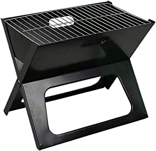 Folding Grill, X-Type Grill Thickening Iron Material Folding Grill Outdoor Portable Charcoal Grill