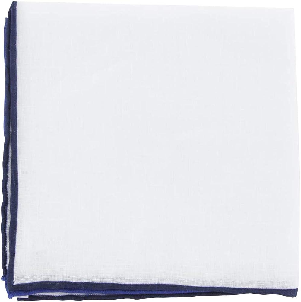 Fiori Di Lusso White Solid Linen Pocket Square - x