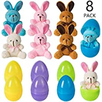 8-Pack Vinfact Easter Eggs Filled with Plush Bunny