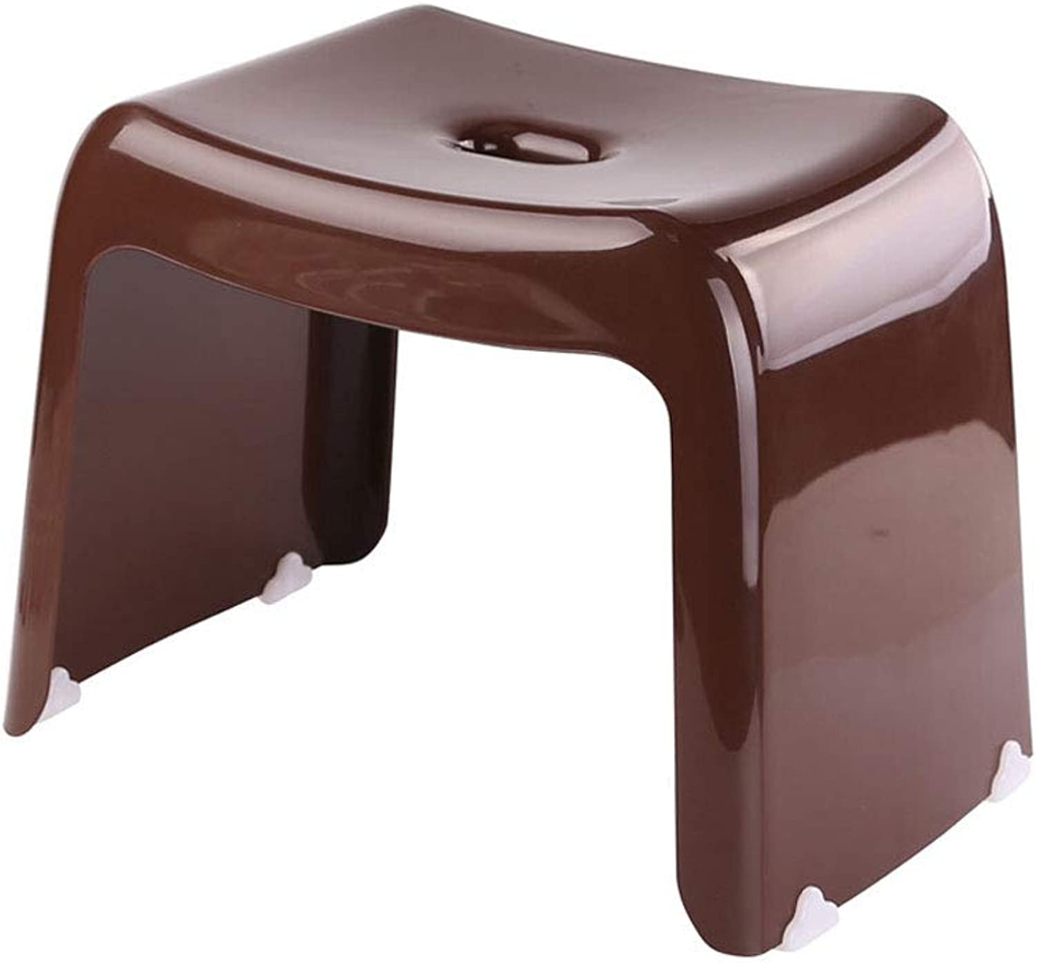 FH Household Footstool, Bathroom Anti-Skid Bench Fashion Creative Step Stool 36×25×30cm, Multi-color Selection (color   Brown)