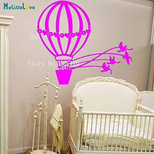 yaoxingfu Vinyl Wandaufkleber Tauben Und Heißluftballon Aufkleber Dekoration Für Kinder Baby Zimmer Selbstklebende Schöne Wandbilder Geschenk Y ww-4 102x84 cm
