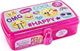 Hot Focus 425EM Treasure School Box with Lock; Includes: 1 Treasure School Box, 1 Combination Lock, 2 Pencils, 1 Sheet of Stickers and 1 Notepad; Recommended for Children 5 and Up