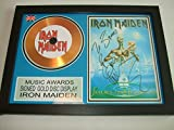 gold disc frames Disco dorado firmado por Iron Maiden