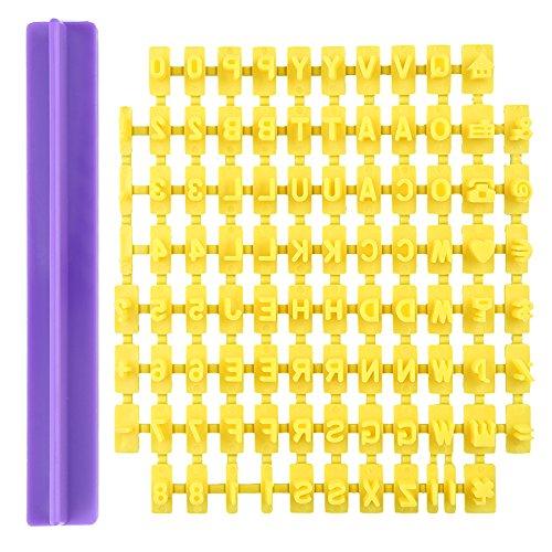 1 stuk plastic schattige alfabet cijfers letters taart DIY vorm voor stempels koekjes cookie cutters vorm decoratie gereedschap