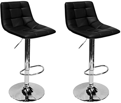 Amazon Com Best Master Furniture Hayden Modern Adjustable Height Bar Stool Set Of 2 Black Furniture Decor