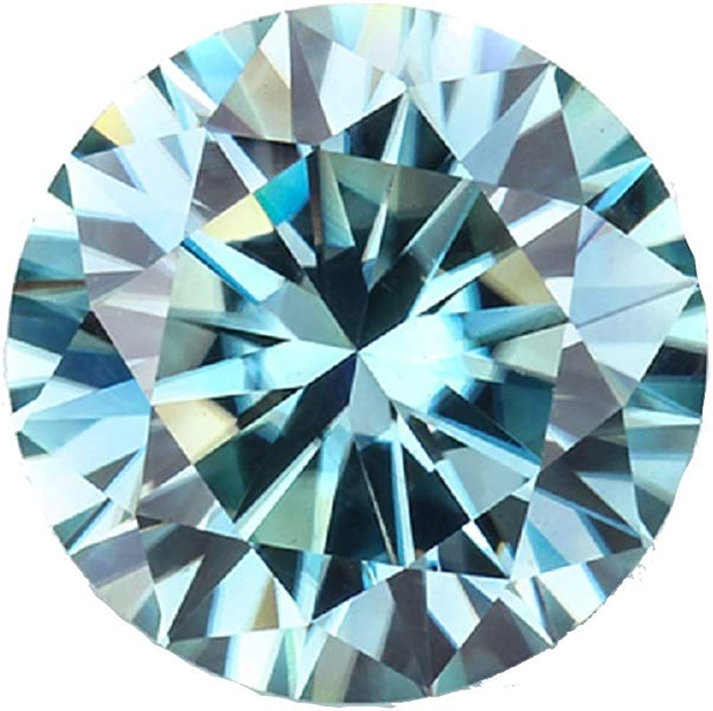 Bhumi Spring new work Gems 10CT Round Cut Blue Loose Color Clari discount Moissanite VVS1