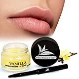 Moisturizing Green Tea Matcha Sleeping Lip Mask Balm, Younger Looking Lips Overnight, Best Solution For Chapped And Cracked Lips, Unique Formula And Power Benefits Of Green Tea (Vanilla_1)