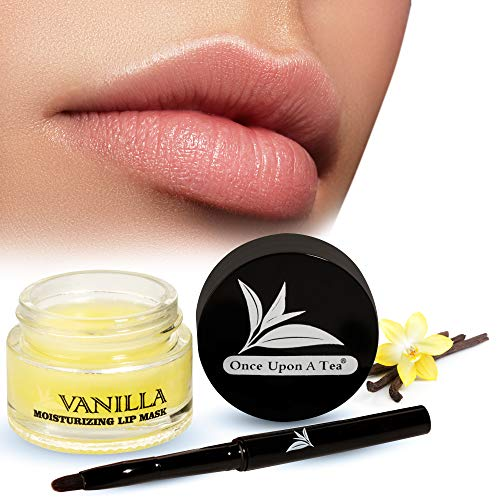 Moisturizing Vanilla Sleeping Lip Mask Balm, Younger Looking Lips Overnight, Best Solution For Chapped And Cracked Lips, Unique Formula And Power Benefits Of Green Tea