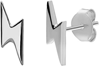 Relámpago Semental Pendientes | hecho de plata de ley 925 | en plata y oro | Estudiante Geek Nerd