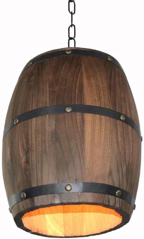 PingFanMi Antiker Kunstkronleuchter, kreative Holzfasslampenbeleuchtung, individuelle Cafébar, Restaurantbeleuchtung - die perfekte Kombination aus Hardware und Holz