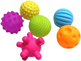 YEKKU Bolas sensoriales para Juguetes para bebés, Juego de Bolas múltiples texturizadas, Juguetes de baño, Bolas sensorial...