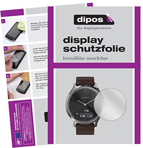 dipos I 6X Schutzfolie klar kompatibel mit Garmin vivomove HR Folie Bildschirmschutzfolie