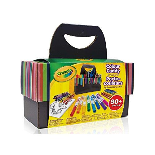 Crayola Colour Caddy, Art Supplies Kids, Travel Art Set, 90+ Pieces , Holiday Kids, Age4,5, 6, 7, 8, 9, Back...