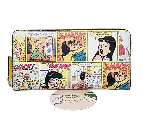 Kate Spade Archie Comics Betty & Veronica Cartera de cuero amarillo pulsera