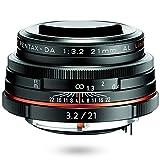 HD PENTAX-DA 21mmF3.2AL Limited ブラック 薄型広角レンズ, DA リミテッドレンズシリーズ, アルミ削り出しボディ, 全長25㎜ 小型軽量設計, APS-C専用設計, HDコーティング, ボディ内手ぶれ補正機構搭載 ペンタックス一眼Kシリーズ 21410