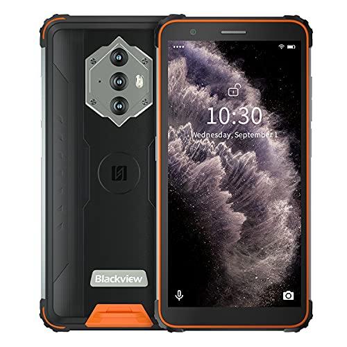 Blackview BV6600E Teléfono Movil Resistente, Android 11 Smartphone Robusto, 8580mAh Batería, IP68 IP69K Móviles Antigolpes, 5.7' HD+,13MP+5MP Cámara,4+32GB,Octa-Core,Dual SIM...
