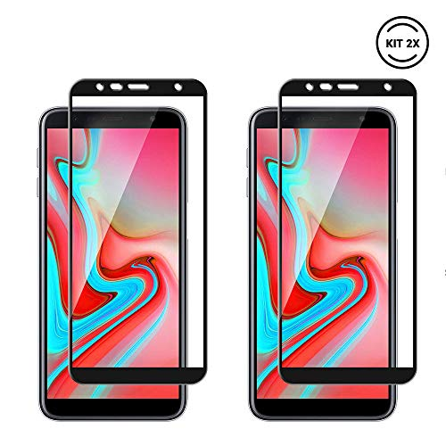 Kit 2x Película Preta Vidro Temperado 3D Samsung Galaxy J6+ (J6 Plus) 2018