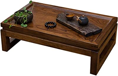 Home Coffee Table Small Tea Table Indoor Study Desk Living Room Bay Window Small Coffee Table Terrace Tatami Tea Table (Color : Brown, Size : 50 * 40 * 25cm)