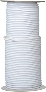 Elastic Cord/Round Rubber Fabric Crafting Stretch Elastic Cord String/50-Yards Length 2.5mm Dia.(White)