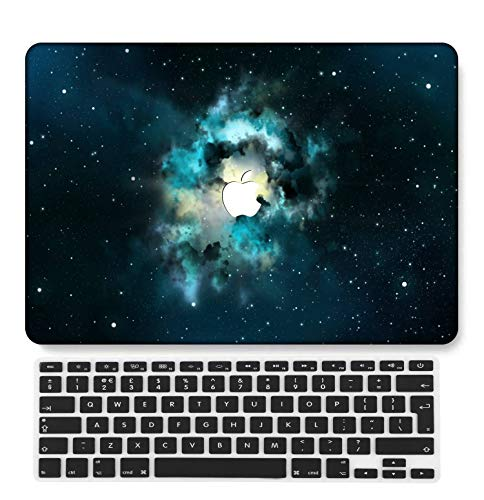 GangdaoCase Plastic Ultra Slim Light Hard Shell Case Cut Out Design Compatible Old MacBook Air 13 Inch with UK Keyboard Cover A1466/A1369 (Galaxy A 12)