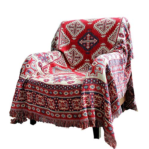 RAIN QUEEN Teppich Kelim Kilim Carpet Bodenmatte Bodenbelag Orientalischer Indischer Handgekn¨¹pfter Orient (130 * 180CM, Bunt)