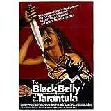 Decoración de Pared The Black Belly of The Tarantula Película Lienzo Pintura Impresiones Arte de la Pared Cartel Cartel de la Vendimia Decoración para el hogar -50X70 CM Sin Marco