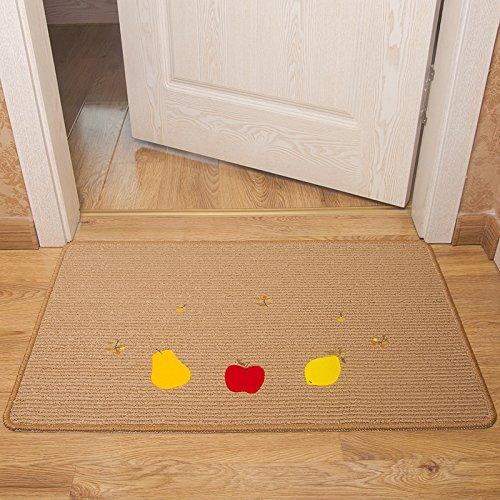 GRENSS Süßes Obst Teppiche Eingang Fußmatte Anti-Skid Wolldecken für Schlafzimmer/Küche/Bad waschbar Matten Maschine an Teppichen, Champagner, 650 mm x 1050 mm