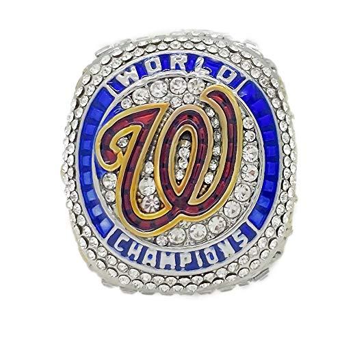 WANZIJING Anillos de Recuerdo, 2020 Nacionales de Washington, béisbol Champion de Llamada Personalizada Anillos de réplica para los Hombres Regalo,A,10