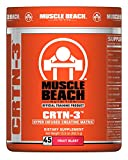 Muscle Beach Nutrition Flavored CRTN-3 Creatine Powder - Intense Energy and Improved Workout Performance - Creatine Supplement for Men & Women - 45 Servings (Fruit Blast)
