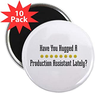 """CafePress Hugged Production Assistant 2.25&Quot; Magnet (10 2.25"""" Round Button Magnet (10 pack)"""