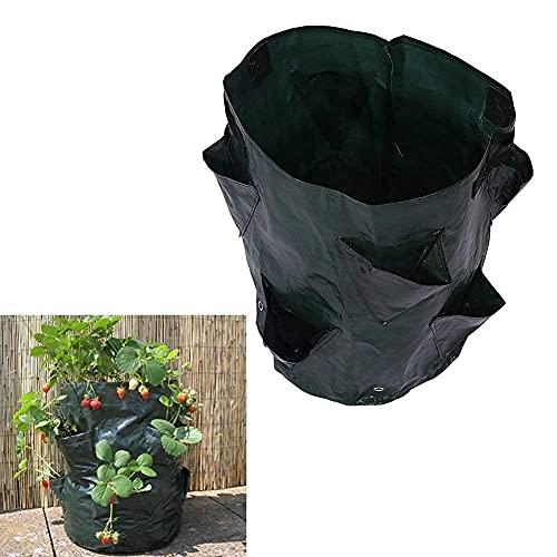 Yosoo Bolsa para cultivo de plantas y plantas de jardín con 8 bolsillos laterales