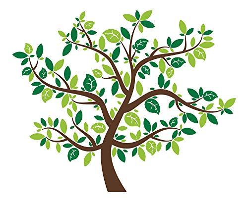 dekodino Wandtattoo Baum dreifarbig