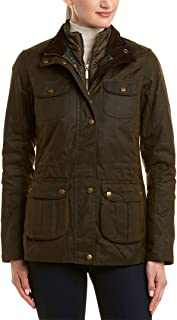 Barbour Chaffinch Women's Waxed Cotton Insulated Jacket - Olive