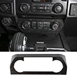 RT-TCZ Air Conditioner Center Control Panel Trim Cover ABS Air Conditioner Switch Panel Trim Cover for Ford F150 F250 F350 Inner Accessories 2015-2021 UP Carbon Fiber