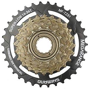 "CyclingDeal Bike Bicycle MTB Wheelset 26"" 7 Speed with Shimano MF-TZ31 14-34T Freewheel"