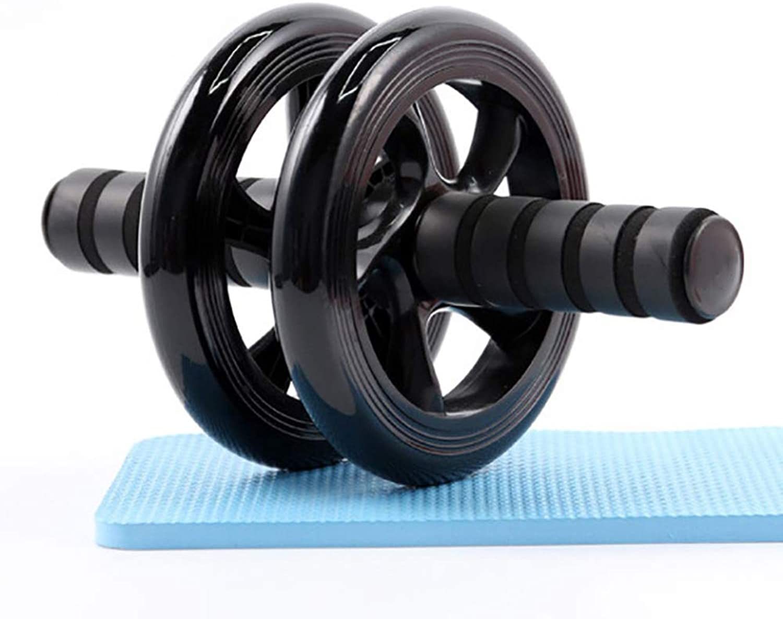 DUANTUIZHU Ab Wheel Roller mit Mat Knie Kniepolster Double Wheel Trainingsrollen Gym Fitness Workout Bauchmuskelrolle