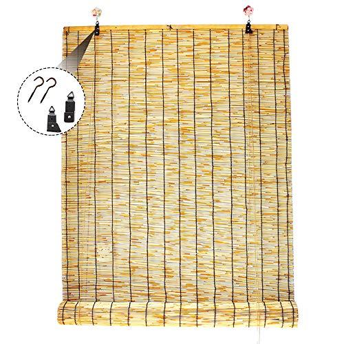 LMDX Store Anti-Regard en Bambou - Stores Enrouleurs - Exterieur,Ventilation Respirant,pour Décoration Murale Commerciale,Demi-Ombre,Rideau Fenetre