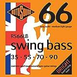 Rotosound Stainless Steel Medium Light Gauge Roundwound Bass Strings (35 55 70 90)