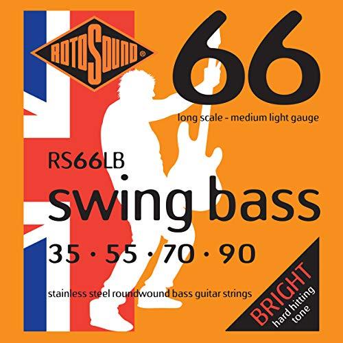 Rotosound RS66LB - Juego de cuerdas para bajo eléctrico de acero inoxidable, 35 55 70 90