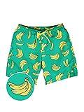 Tipsy Elves Havana Banana Swim Trunks: Large