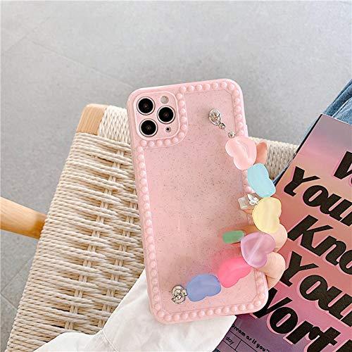 para iPhone 12 11 Pro XS MAX 7 8 Plus SE SE PULSÓN CUCHA CUCHA CUCHA Pure Color Pure Cove DE LA Cubierta DE LA Cubierta-Rosa_para iphone11