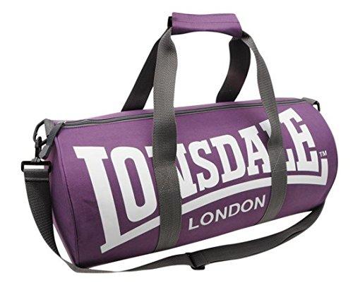 Lonsdale - Borsa sportiva, 26 x 52 x 26 cm, colore viola