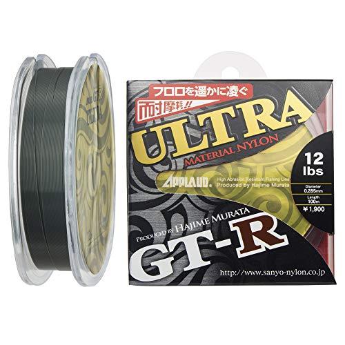 サンヨーナイロン ナイロンライン 12lb 100m アプロード GT-R ウルトラ ダークグリーン