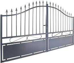 Gardenode Dubbele vleugeldeur Jais aluminium grijs – doorgang 3 m
