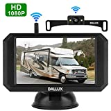 Wireless Backup Camera Kit with Stable Digital Signal,5 Inch Monitor and Rear View Camera for Car,Pickup,Truck,Sedan,RV,SUV,Minivans,Camper Rearview License Plate HD Night Vision Waterproof Reverse